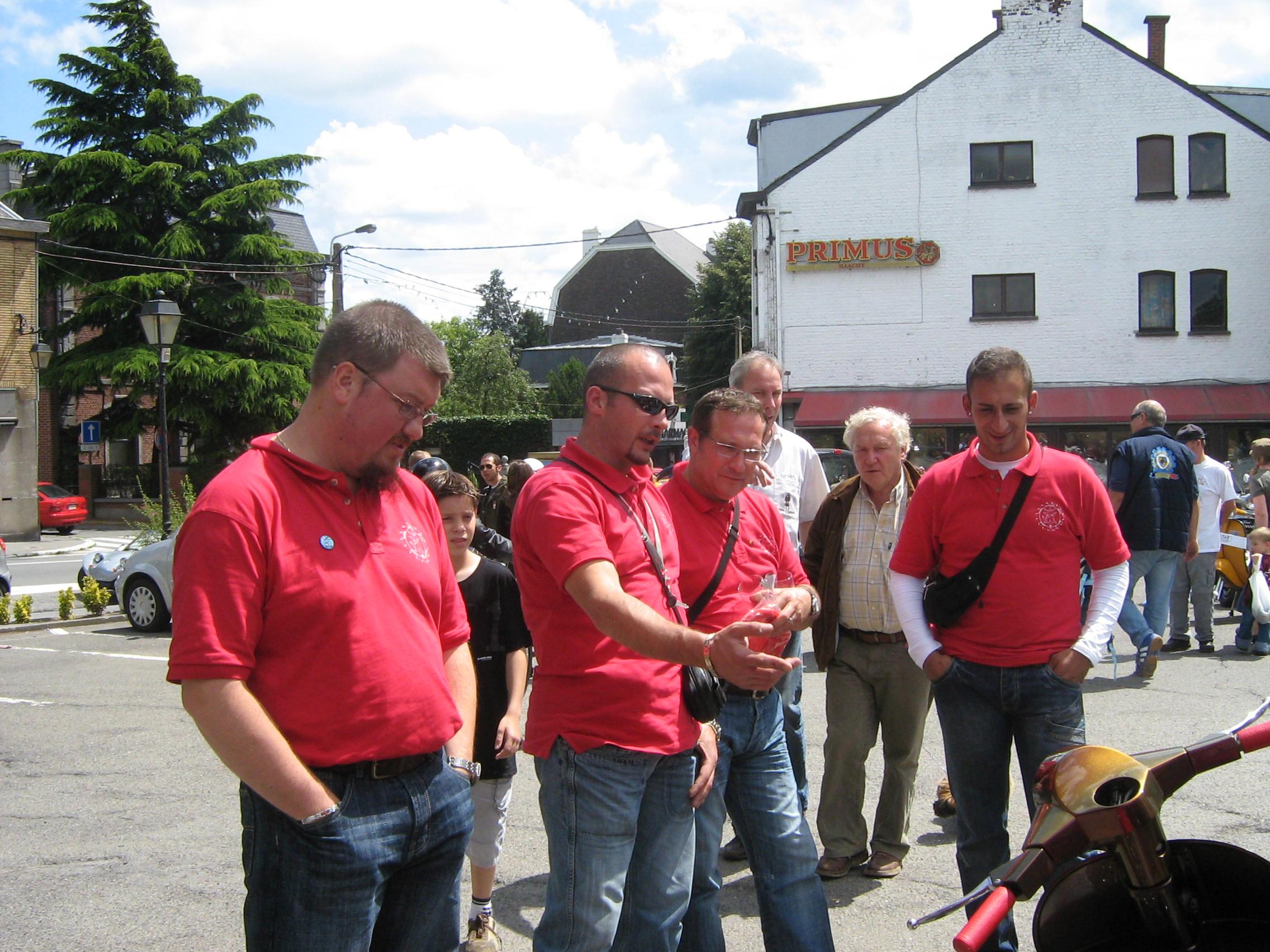 Fred, Gianni, Giuseppe et Alfonso sambreville 072007
