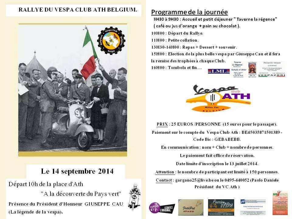 Programme Rallye Ath