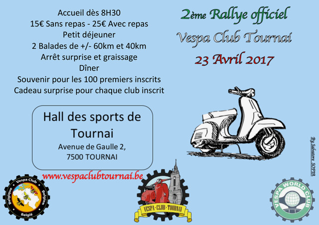 AFFICHE OFFICIELLE Rallye Tournai 2017