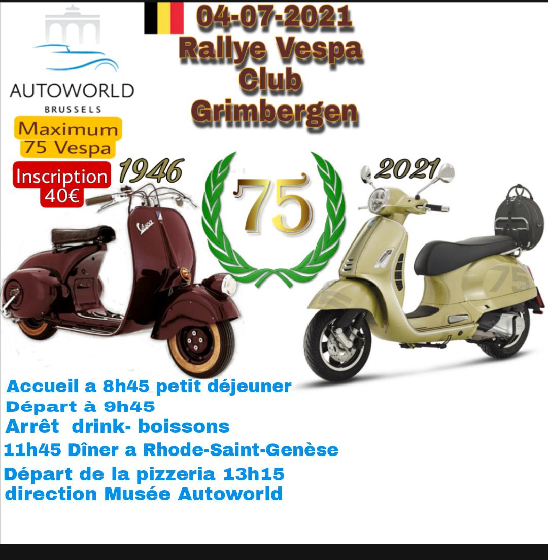 Rallye VC Grimbergen 2021 - 75e anniversaire de la Vespa